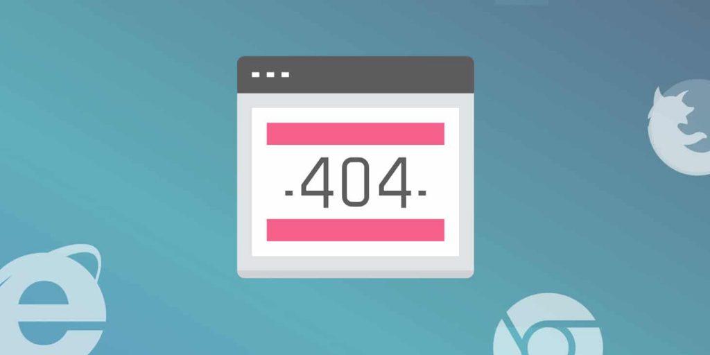 علت نمایش خطای 404
