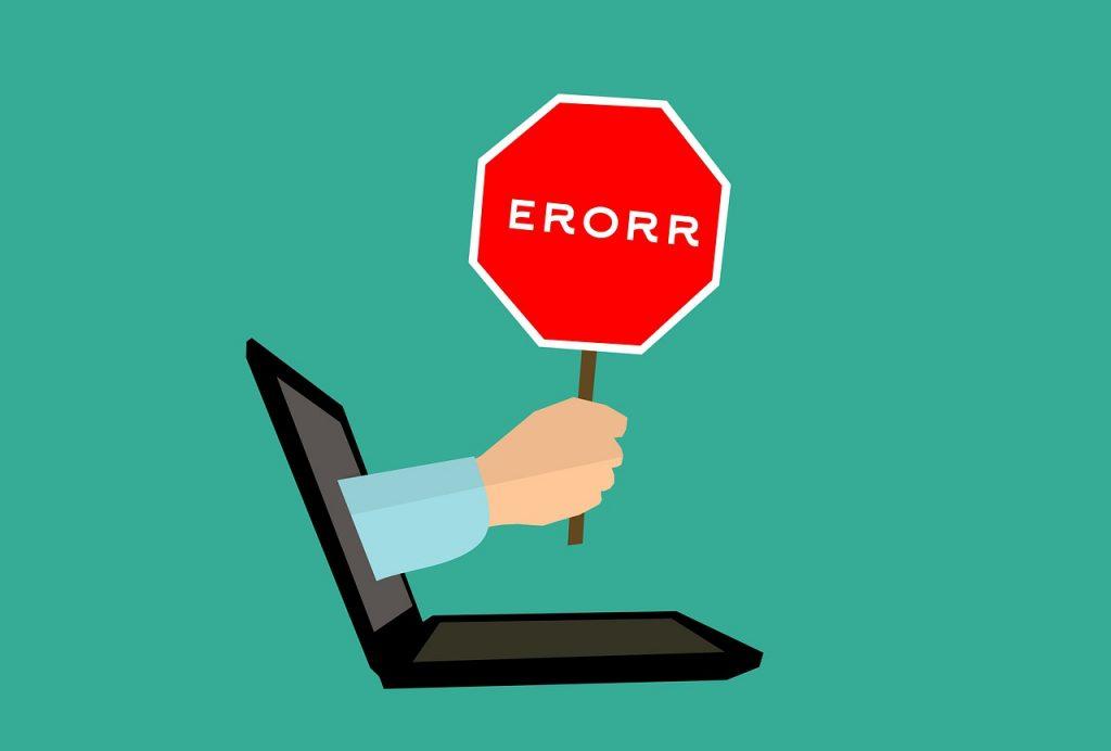 خطاهای وبسایت ها
