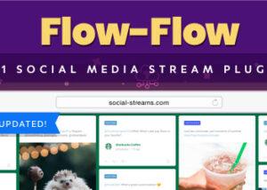 افزونه فیدخوان شبکه های اجتماعی در وردپرس (Flow Flow)
